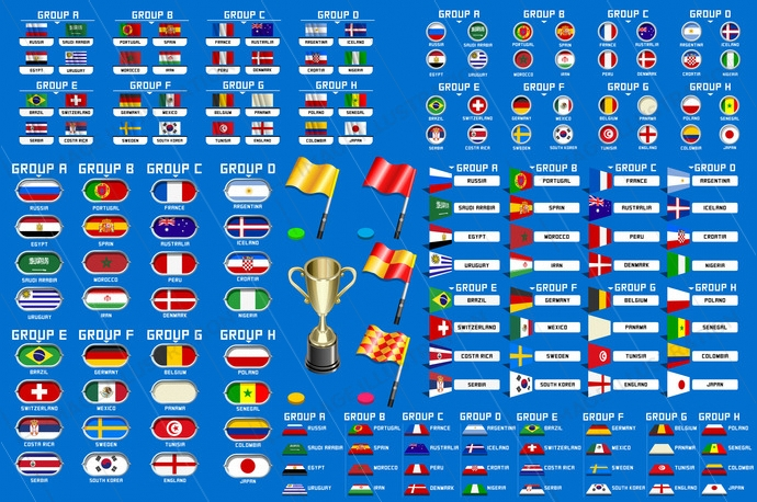 World Cup Championship Groups Schedule Image Illustration