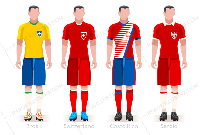 new product 396c9 7942b World Cup Group E Jerseys Kit