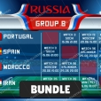 Russia world cup groups wallpaper bundle