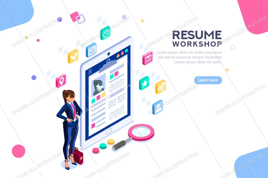 Workshop For Resume Writing Banner Image Illustration
