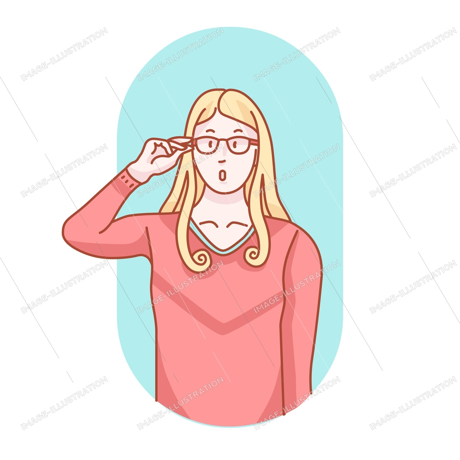 Doodle poses of eyes. Group of mono tone clip. Shot with hands and glasses wearing person situations. Cartoon behavior art and act. Hand drawn style vector characters. Eyeglasses doodle story.