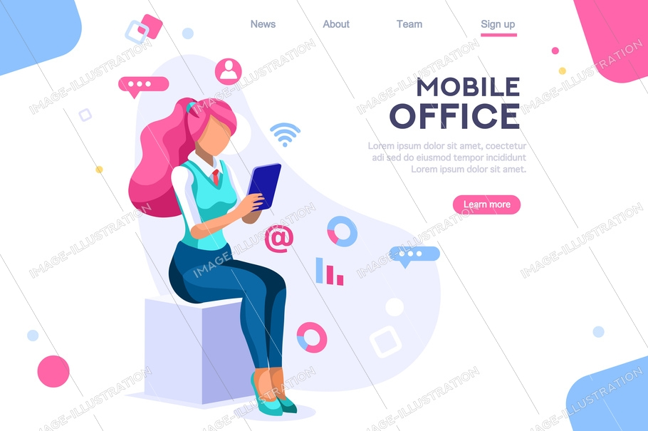 Data devices, graphs solution. User reading display. Ideas brainstorming, characters situations set. Interacting people concept. 3d images isometric vector illustrations.