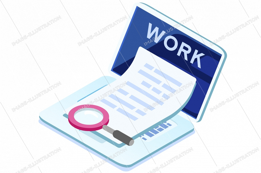 Symbolic working at home, freelancer symbol. Programmer house workplace freelance flexible remote working on the couch at home sign. Vector illustration. Freelancer watching outsource work on the sofa
